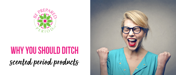 ditch scented period products