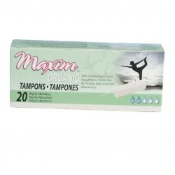 Maxim Organic Cotton Non Applicator Tampon, Regular