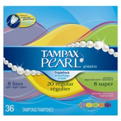 Tampax Pearl Triple/Multi Pack - Unscented