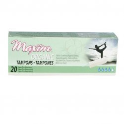 Maxim Organic Cotton Non Applicator Tampon, Super