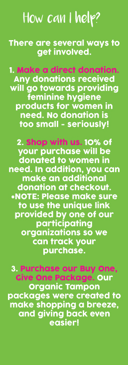 donate feminine hygiene products